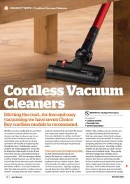Cordless Vacuums November 2019